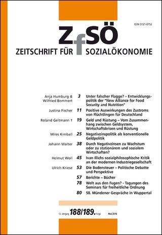 zeitschrift für sozialökonomie