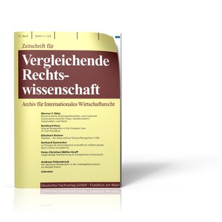 Zeitschrift für Vergleichende Rechtswissenschaft (ZVglRWiss)