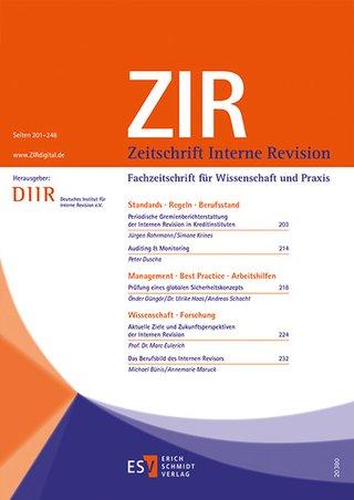 Zeitschrift Interne Revision ZIR