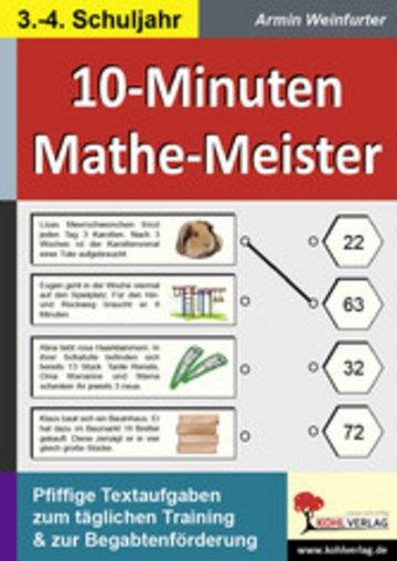 eBook 10-Minuten-Mathe-Meister / Klasse 3-4 Cover