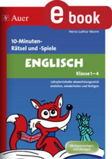 eBook 10-Minuten-Rätsel und -Spiele Englisch Klasse 1-4 Cover