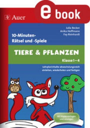 eBook 10-Minuten-Rätsel und -Spiele Tiere & Pflanzen Cover