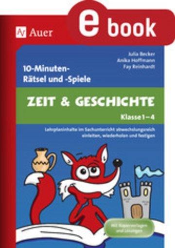 eBook 10-Minuten-Rätsel und -Spiele Zeit & Geschichte Cover