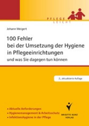 eBook 100 Fehler bei der Umsetzung der Hygiene in Pflegeeinrichtungen Cover
