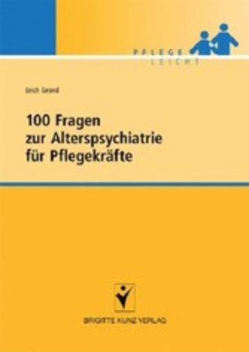 eBook 100 Fragen zur Alterspsychiatrie für Pflegekräfte Cover
