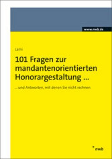 eBook 101 Fragen zur mandantenorientierten Honorargestaltung Cover