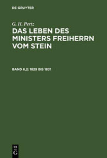 eBook 1829 bis 1831 Cover
