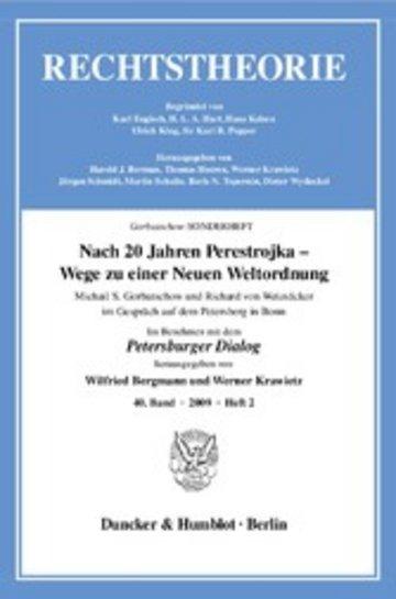 eBook Nach 20 Jahren Perestrojka - Wege zu einer Neuen Weltordnung. Cover