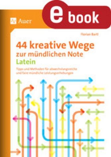 eBook 44 kreative Wege zur mündlichen Note Latein Cover