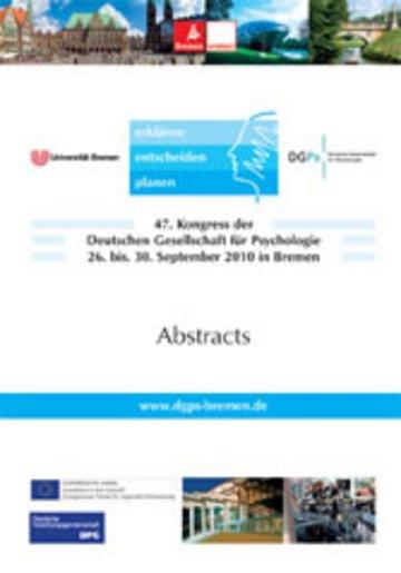 eBook 47. Kongress der Deutschen Gesellschaft für Psychologie Cover