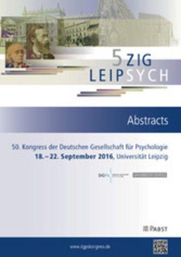 eBook 50. Kongress der Deutschen Gesellschaft für Psychologie Cover