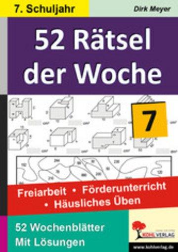 eBook 52 Rätsel der Woche / Klasse 7 Cover