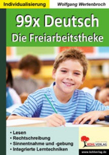 eBook 99x Deutsch - Die Freiarbeitstheke Cover
