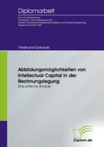 eBook Abbildungsmöglichkeiten von Intellectual Capital in der Rechnungslegung Cover