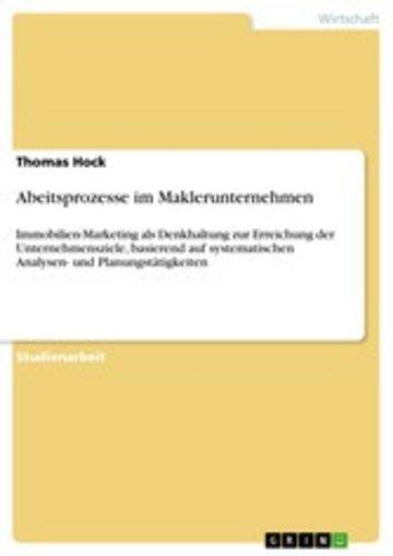eBook Abeitsprozesse im Maklerunternehmen Cover
