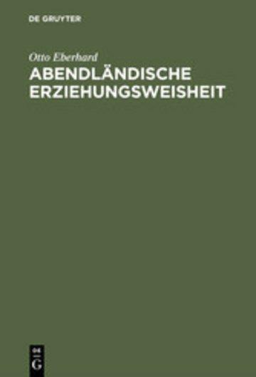 eBook Abendländische Erziehungsweisheit Cover