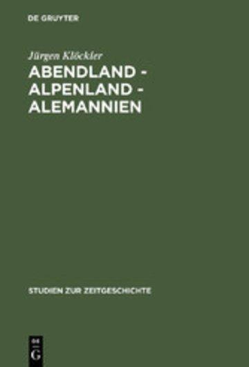eBook Abendland - Alpenland - Alemannien Cover