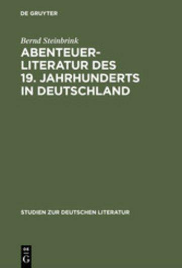 eBook Abenteuerliteratur des 19. Jahrhunderts in Deutschland Cover
