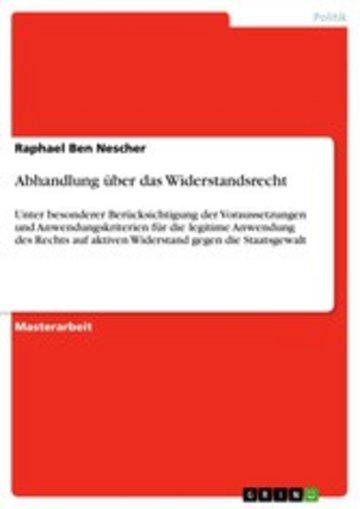 eBook Abhandlung über das Widerstandsrecht Cover