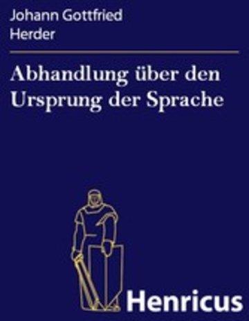 eBook Abhandlung über den Ursprung der Sprache Cover