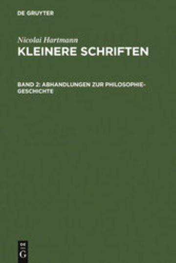 eBook Abhandlungen zur Philosophie-Geschichte Cover