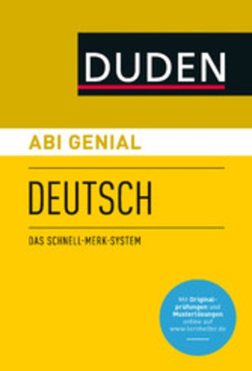 eBook Abi genial Deutsch Cover