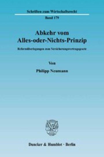 eBook Abkehr vom Alles-oder-Nichts-Prinzip. Cover