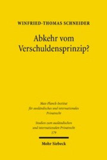 eBook Abkehr vom Verschuldensprinzip? Cover