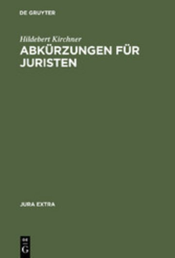 eBook Abkürzungen für Juristen Cover