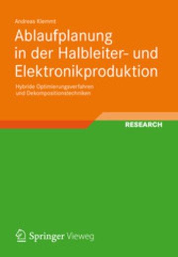 eBook Ablaufplanung in der Halbleiter- und Elektronikproduktion Cover