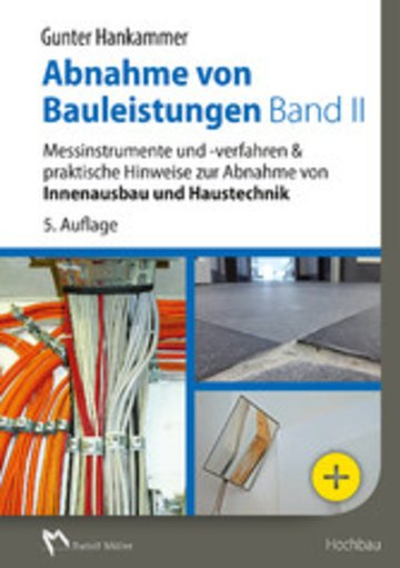eBook Abnahme von Bauleistungen Band II - E-Book (PDF) Cover