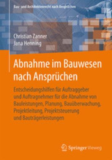 eBook Abnahme im Bauwesen nach Ansprüchen Cover