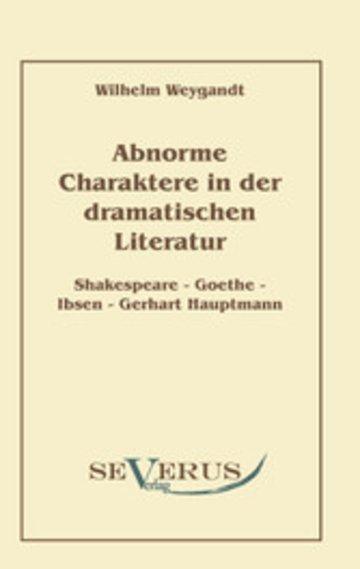 eBook Abnorme Charaktere in der dramatischen Literatur Cover