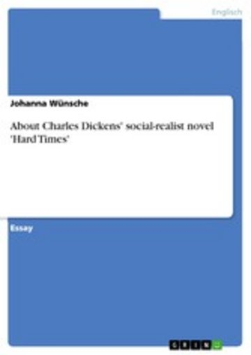 eBook About Charles Dickens' social-realist novel 'Hard Times' Cover