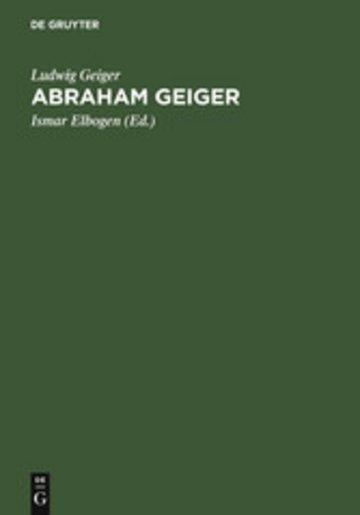 eBook Abraham Geiger Cover