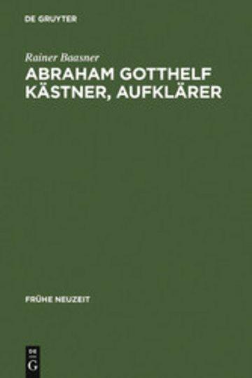 eBook Abraham Gotthelf Kästner, Aufklärer Cover