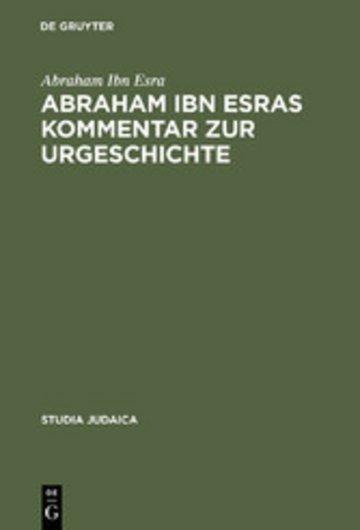 eBook Abraham ibn Esras Kommentar zur Urgeschichte Cover