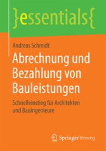 eBook Abrechnung und Bezahlung von Bauleistungen Cover