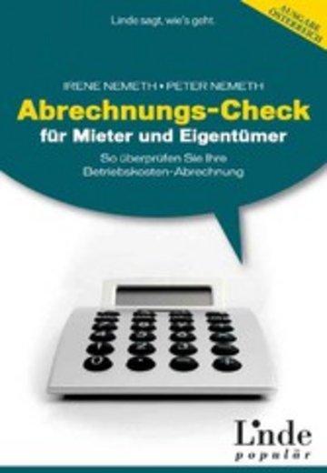 eBook Abrechnungs-Check für Mieter und Eigentümer Cover