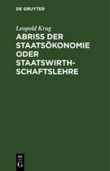 eBook Abriß der Staatsökonomie oder Staatswirthschaftslehre Cover