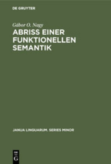 eBook Abriß einer funktionellen Semantik Cover