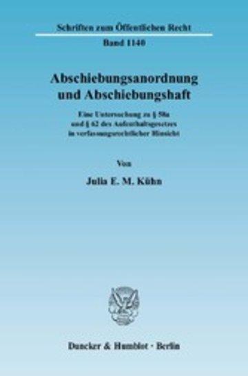 eBook Abschiebungsanordnung und Abschiebungshaft. Cover