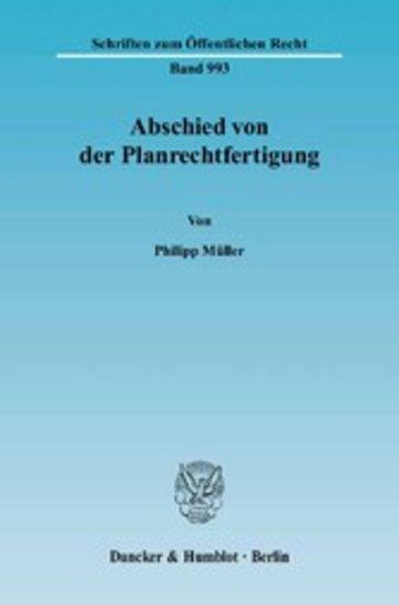eBook Abschied von der Planrechtfertigung. Cover