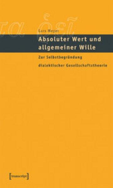 eBook Absoluter Wert und allgemeiner Wille Cover