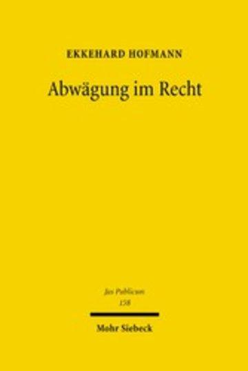 eBook Abwägung im Recht Cover