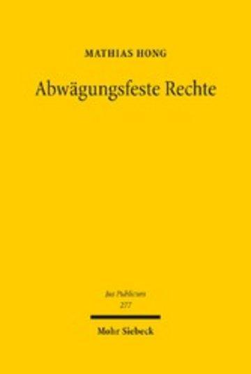 eBook Abwägungsfeste Rechte Cover