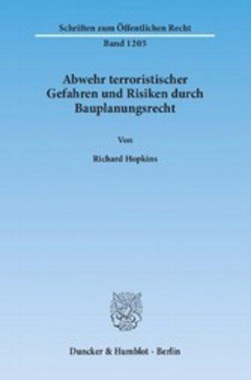 eBook Abwehr terroristischer Gefahren und Risiken durch Bauplanungsrecht. Cover