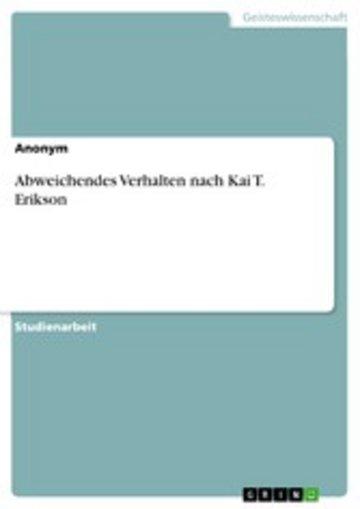 eBook Abweichendes Verhalten nach Kai T. Erikson Cover