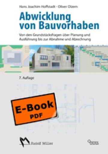 eBook Abwicklung von Bauvorhaben Cover