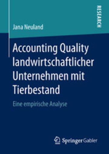eBook Accounting Quality landwirtschaftlicher Unternehmen mit Tierbestand Cover